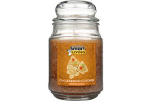Smart Living Holiday Gingerbread Custard Candle
