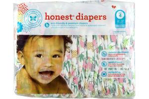 The Honest Co. Honest Diapers Jungle Friends Size 4 - 29 CT