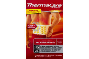 ThermaCare Lower Back & Hip Heatwraps L-XL - 2 CT
