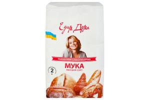 Мука пшеничная хлебопекарная Едим Дома м/у 2кг