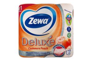 Папір туалетний 3-х шаровий Персик Deluxe Zewa 4шт