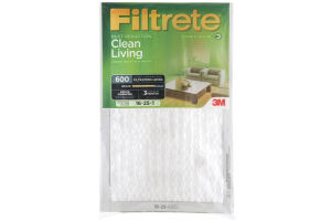 3M Filtrete Dust Reduction Clean Living 600 Air Filter 16x25x1