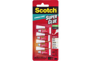 Scotch Single-Use Super Glue - 4 CT