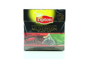 Чай черный Mild Ceylon Lipton к/у 20х1.8г
