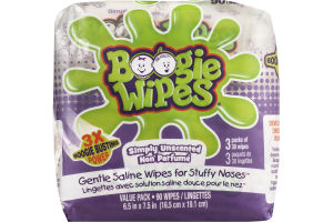 Boogie Wipes Simply Unscented - 90 CT