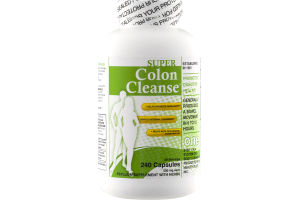 Super Colon Cleanse Psyllum Supplement With Herbs Capsules - 240 CT