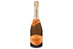 Вино игристое 0.75л 10.5-13.5% белое полусладкое Semi-Sweet Charmat Shabo бут
