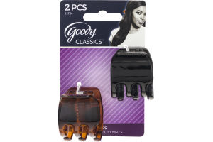 Goody Classics Medium Claw Clips - 2 CT