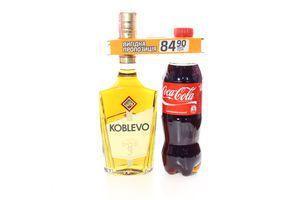 Набір Коньяк Коблево 3* 40% 0,5л + Кока-Кола 0,5л