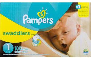 Pampers Swaddlers Sesame Street Beginnings Diapers Size 1 Super Pack (8-14 lb) - 100 CT