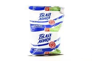 Молоко 2.5% ультрапастеризованное Біла Лінія м/у 900г