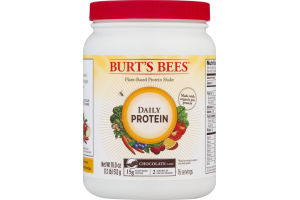 Burt's Bees Plant-Based Protein Shake Daily Protein Chocolate