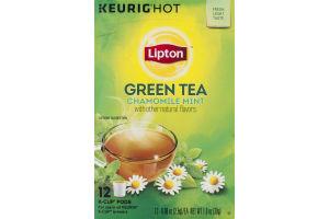 Lipton Green Tea Chamomile Mint K-Cup Pods - 12 CT