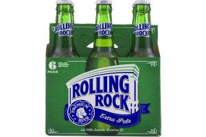 Rolling Rock Extra Pale Premium Beer - 6 PK