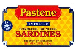 Pastene Sardines Boneless, Skinless In Olive Oil