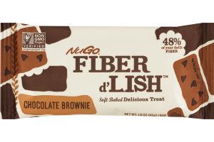 NuGo Fiber d'Lish Soft Baked Delicious Treat Chocolate Brownie Bar