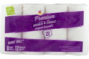 Ahold Premium Paper Towels Full Size - 8 CT