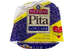 Toufayan Bakeries Pita Bread Low Carb - 6 CT