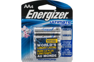 Energizer Ultimate Lithium Batteries AA - 4 CT