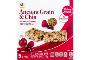 Ahold Ancient Grain & Chia Granola Bars Red Fruit - 5 CT