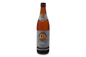 Пиво 0.5л 5% світле фільтроване непастеризоване Pils ABK пл