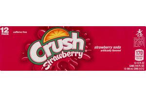 Crush Soda Strawberry - 12 PK
