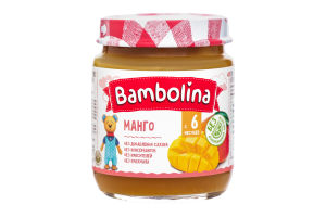 Пюре Bambolina Манго, 100 г