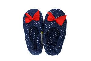 Тапочки-чешки комнатные детские трикотажные Twins Горох 32-33 синие