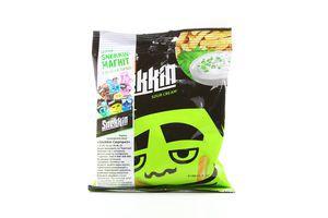 Сухарики со вкусом сметаны и зелени Snekkin м/у 80г