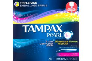 Tampax Pearl Tampons Regular/Super Scented - 36 CT