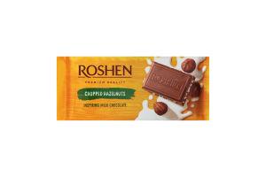 Шоколад молочный с измельченным лесным орехом Рошен 90г
