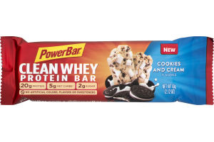 PowerBar Clean Whey Protein Bar Cookies and Cream