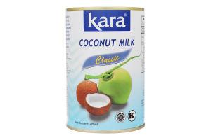 Молоко кокосовое 17% Classic Kara ж/б 400мл