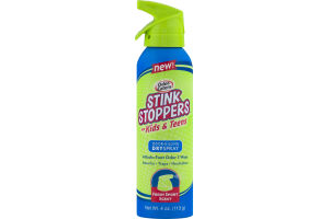 Odor-Eaters Stink Stoppers For Kids & Teens Odor-Killing Dry Spray Fresh Sport Scent