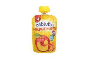 Пюре для дітей від 4міс Персик Яблуко Bebivita д/п 90г