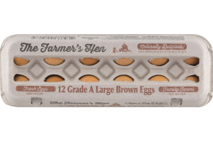 The Farmer's Hen Grade A Large Brown Eggs - 12 CT