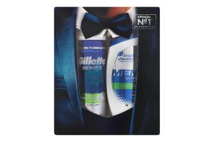 Набор шампунь Sport Fresh Head&Shoulders 200мл+пена для бритья Алоэ Series Gillete 250мл 1шт