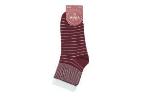 Шкарпетки жіночі Marca №42104 23-25 смужка бордо