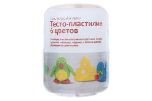 Набор для творчества для детей от 3лет №ТА1065V Тесто-пластилин 6 цветов Genio Kids 1шт
