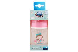 Пляшка з широким отвором антиколікова Easystart - Toys 120 мл рожева лялька 35/220_pin