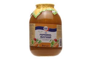 Сок Повна Чаша морковно-яблочный с мякотью гомоген