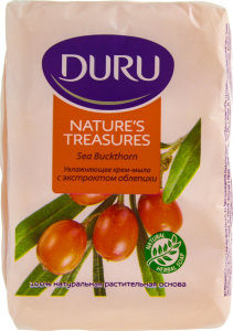DURU Nature's Treasures Мыло экопак 4*75 g Облепиха
