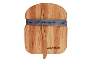 Комплект Дошка Хлібець+ніж Woodstuff 1шт