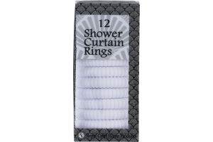 Royal Crest Home Products Shower Curtain Rings White - 12 CT