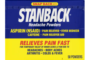 Stanback Headache Powders - 50 CT