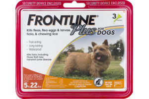 Frontline Plus For Dogs 5 to 22 lbs - 3 PK