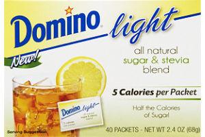 Domino Light All Natural Sugar & Stevia Blend - 40 CT