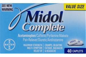 Midol Complete Maximum Strength Multi-Sympton Relief - 40 CT