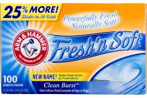 Arm & Hammer Fresh'n Soft Clean Burst Fabric Softener Sheets