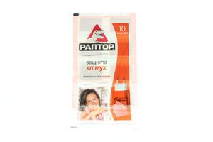 Пластины от мух без запаха Раптор 10шт